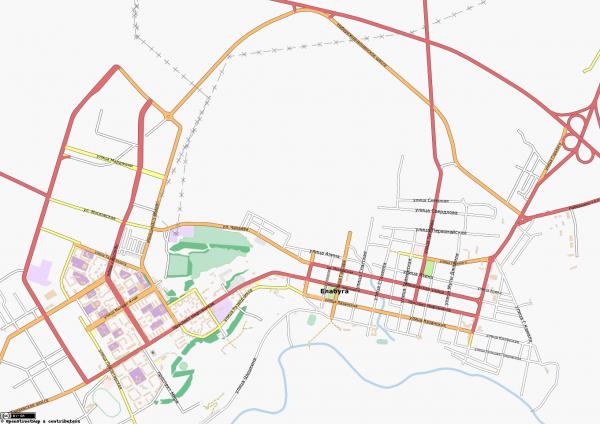 карта города елабуга с