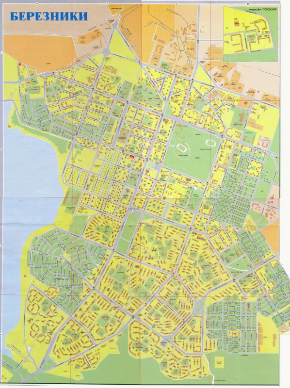 улицами Карта города