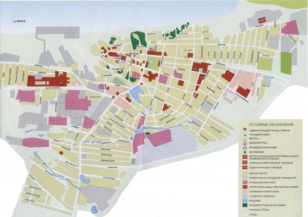 Карта города Тетюши с улицами