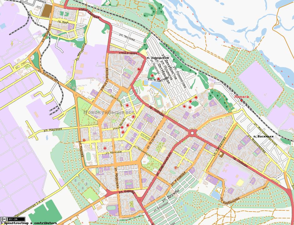 Карта Новокуйбышевска с