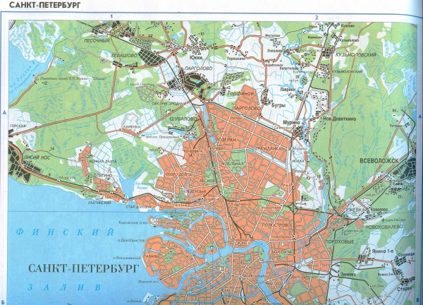 Карта санкт-петербурга скачать