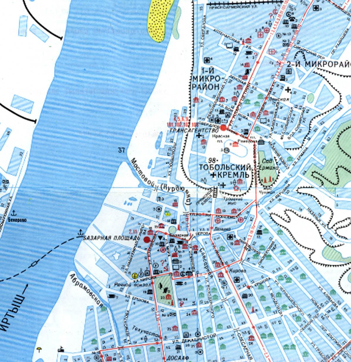 Карта Города Салехард С Улицами