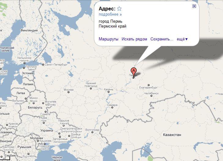 Автомобильная карта Пермь и