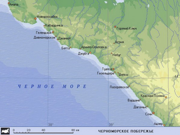 Крупные города на черном море россия
