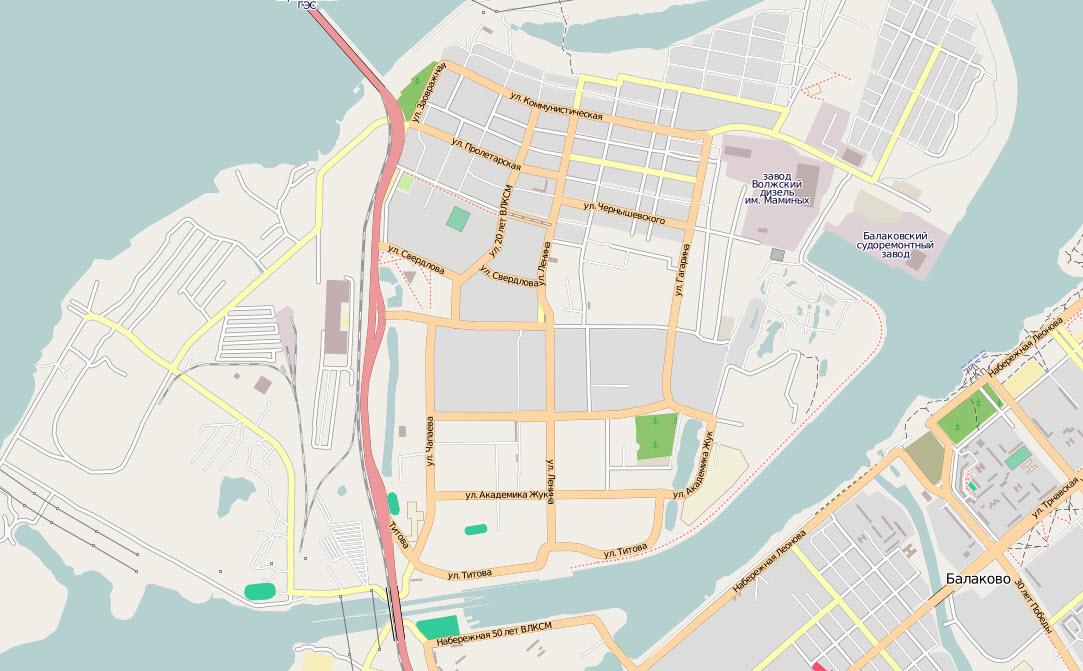 план-схема города балаково