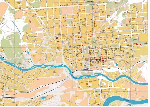 Карта Читы с улицами Карты