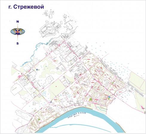 Карта города стрежевой с улицами