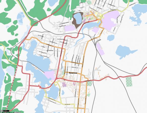 Карта Кыштыма с улицами