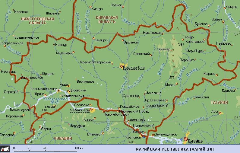 Марий Эл на карте России: http://kartoman.ru/marij-el-na-karte-rossii/