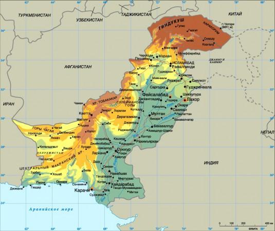 карта Пакистана