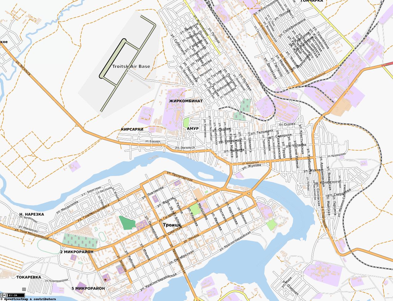 Карта города троицк подробная с
