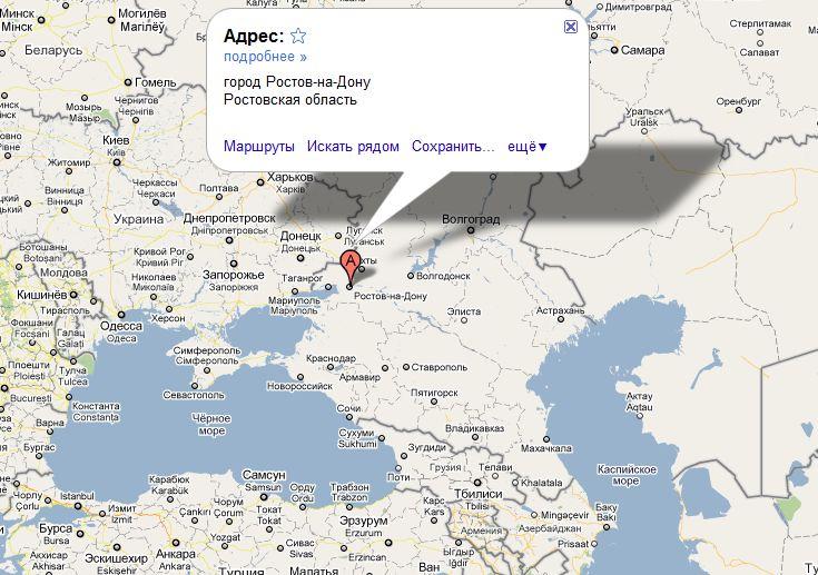 Ростов-на-дону на карте России - ProTown ru