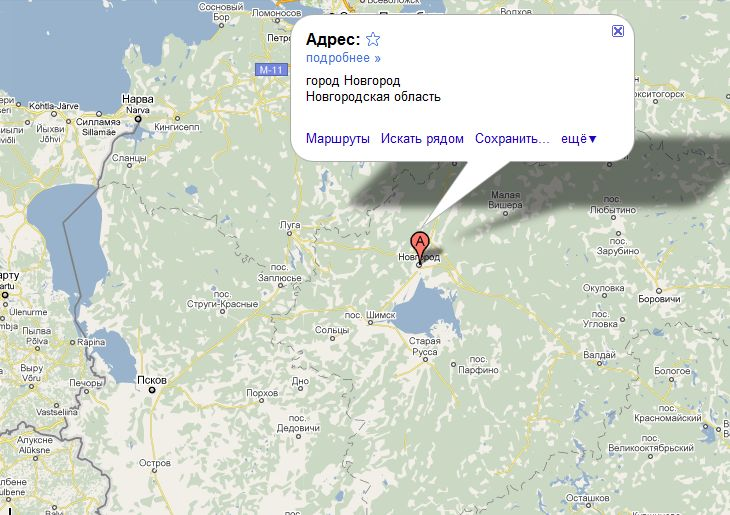 великий новгород карта россии