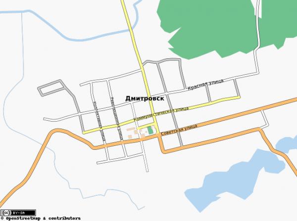 Карта дмитровска с улицами