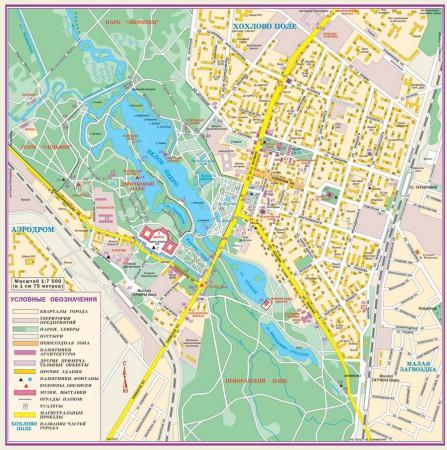 Карта города Гатчина с улицами