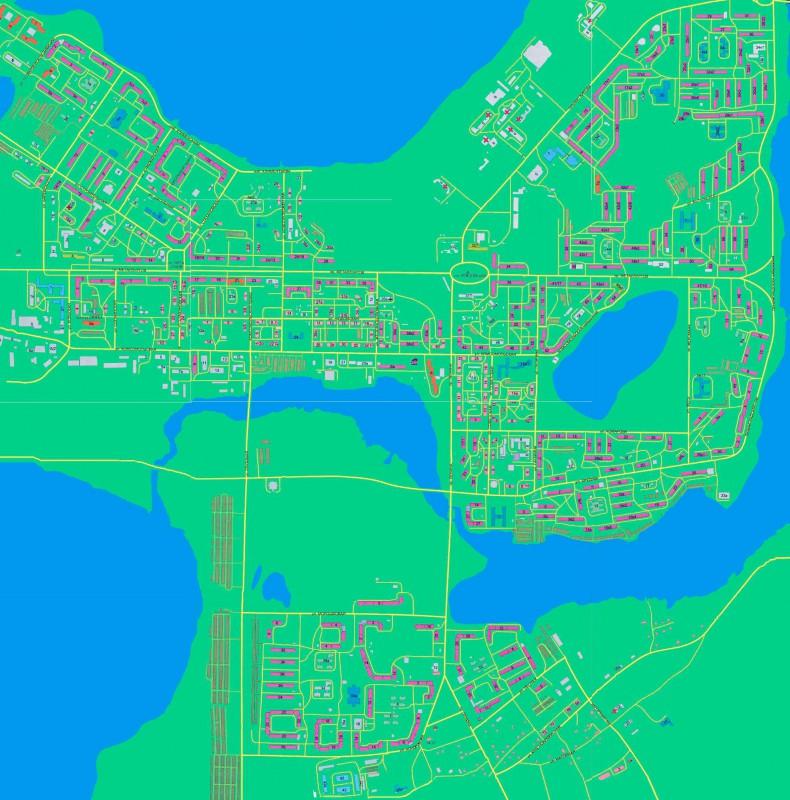 Карта Мончегорска с улицами
