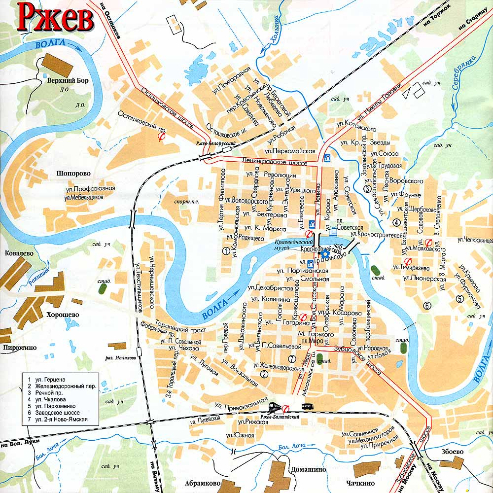 Для тех кто едет по Новой Риге через Ржев, краткая схема проезда города Ржев, кто без навигаторов.
