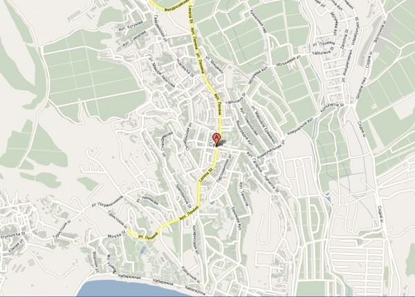 карта судака с улицами и