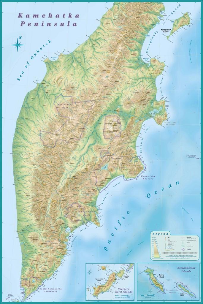 Карта Камчатки. Скачать