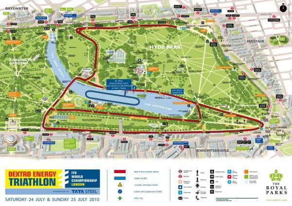 Гайд-парк в Лондоне. Карта