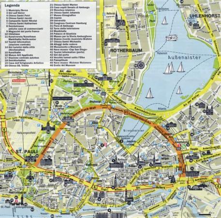Карта Гамбурга