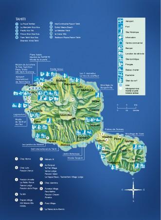 Таити на карте
