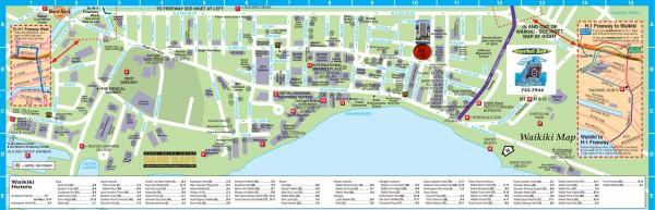 Пляж Вайкики на карте