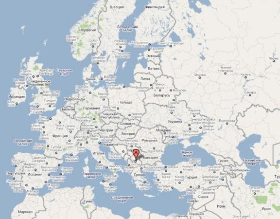 Македония на карте Европы