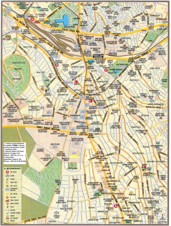 Анкара. Карта туристическая