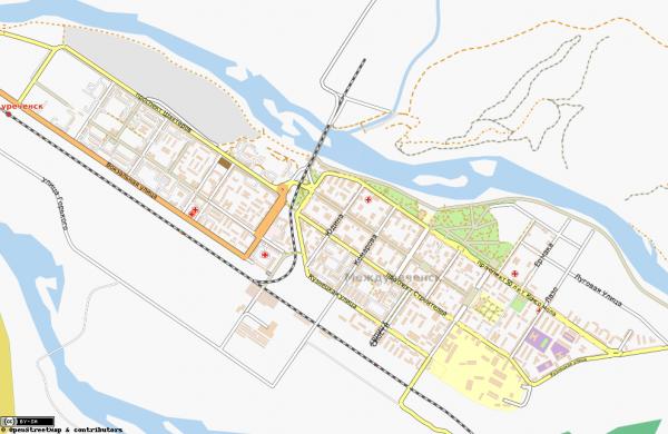 Карта Междуреченска с улицами