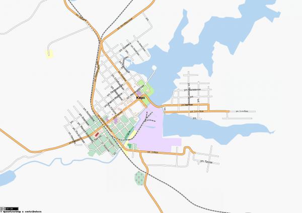 Карта города Кирс с улицами