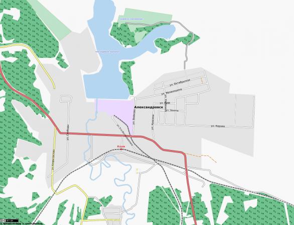 Карта Александровска с улицами