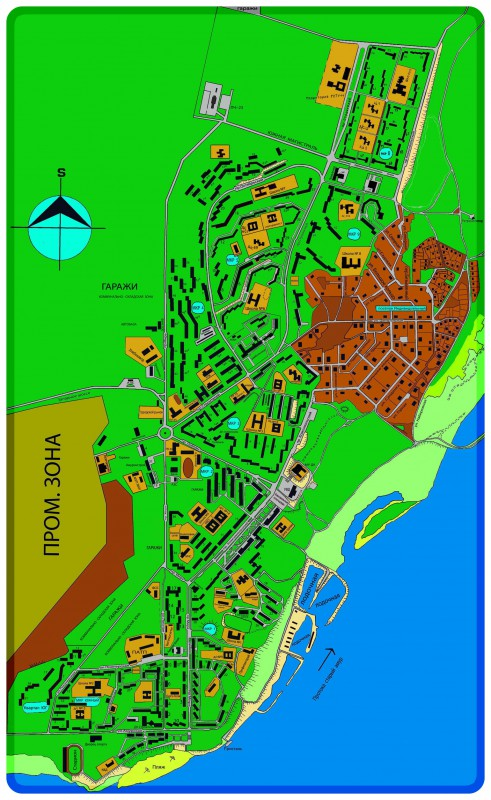 Карта Амурска с улицами