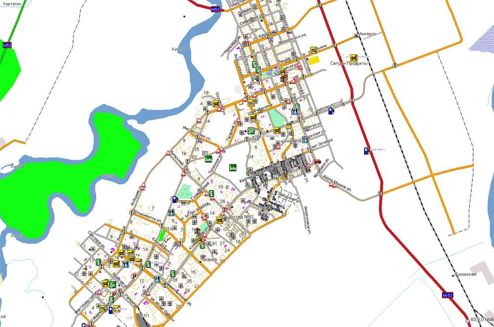 карта ангарска фото с номерами домов первую очередь