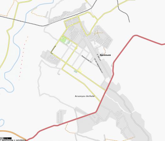 Карта Арсеньева с улицами