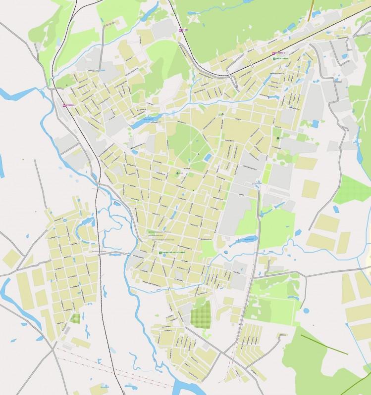 Карта Арзамаса с улицами