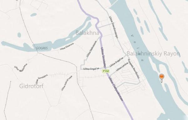 Карта Балахны с улицами