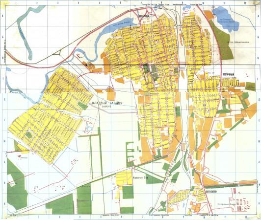 Карта Батайска с улицами