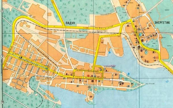Карта Братска с улицами