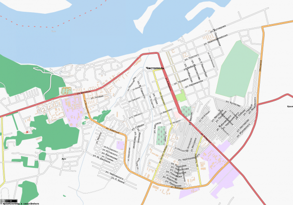 Карта Чистополя с улицами