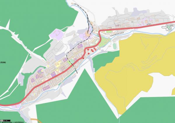 Карта Дальнегорска с улицами