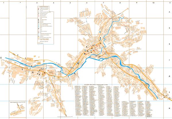 Карта Горно-Алтайска с улицами