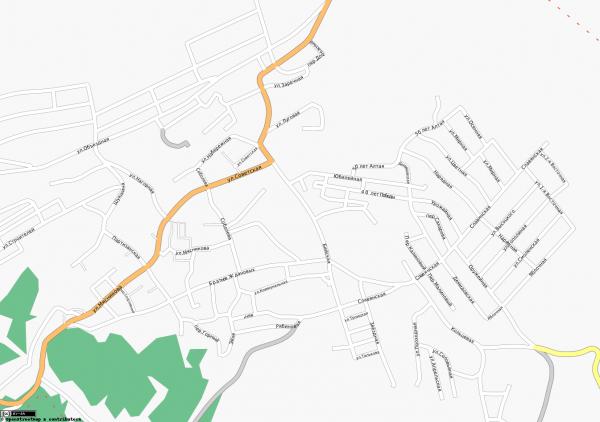Карта города Белокуриха с улицами