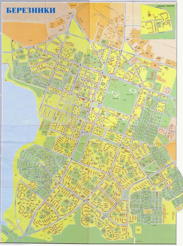 Карта города Березники с улицами