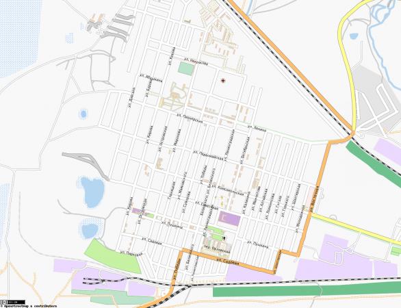 Карта города Горняк с улицами