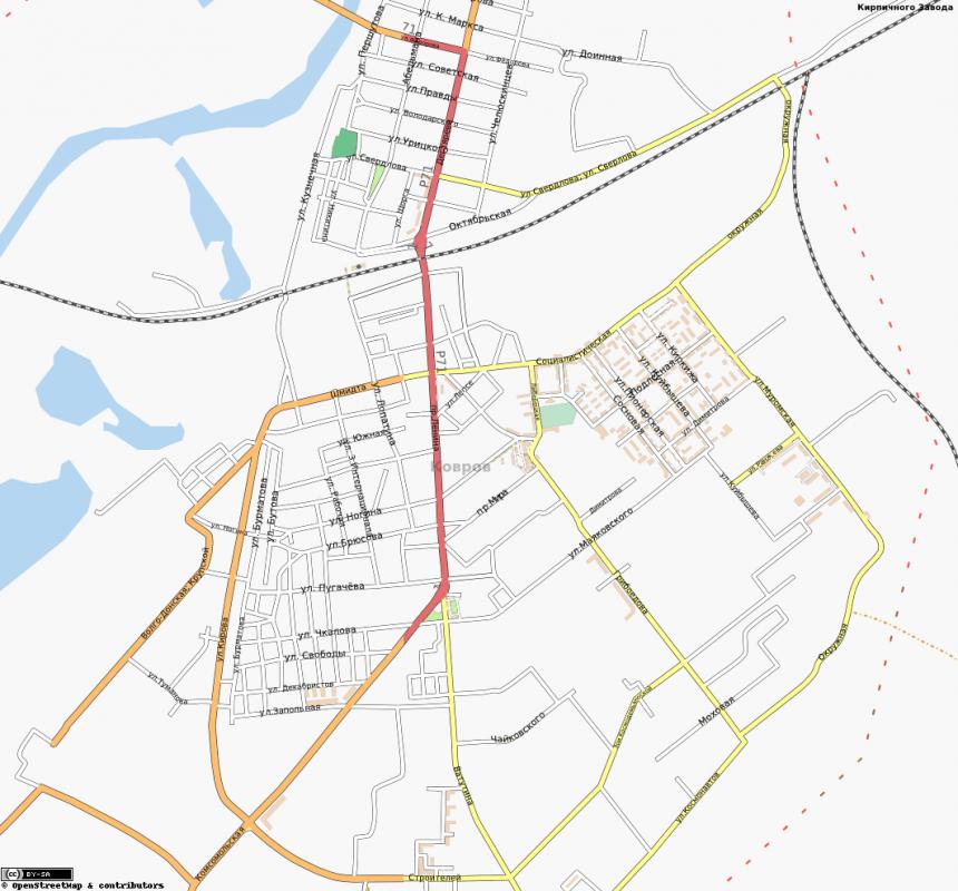 Карта Коврова с улицами