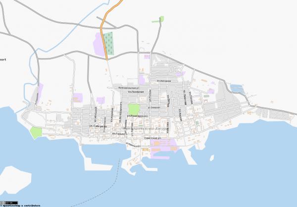 Карта города Николаевск-на-Амуре с улицами