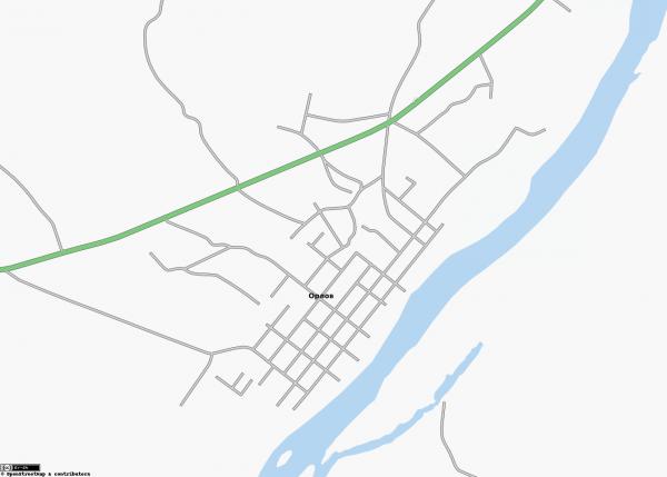 Карта города Орлов схематичная