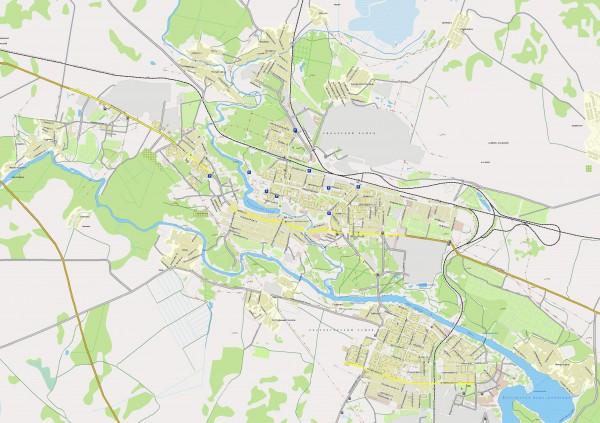 Карта Каменск-Уральского с улицами