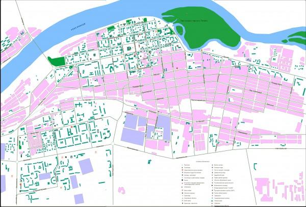 Карта Кызыла с улицами